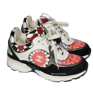 Chanel Graffiti Neon Sneaker Sneakers Multicolor Athletic