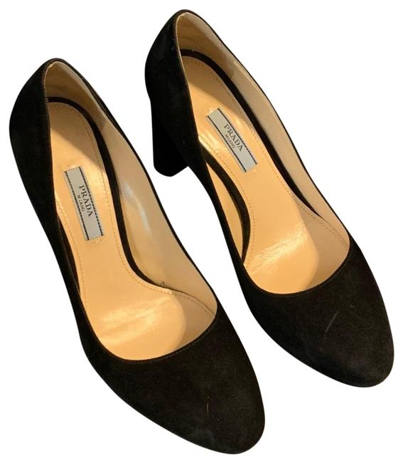 Prada Black Round Toe Pumps Size EU 37 (Approx. US 7) Regular (M, B) Prada Black Round Toe Pumps Size EU 37 (Approx. US 7) Regular (M, B) Image 1