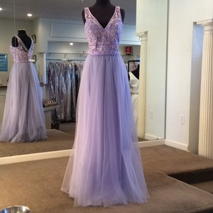 Mori Lee Violet Tulle 21521 Formal Bridesmaid/Mob Dress Size 10 (M)