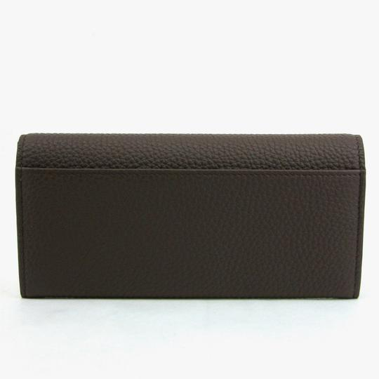 Gucci Gucci Brown Leather Long/Continental Wallet w/o Box 296676 2140 Image 2