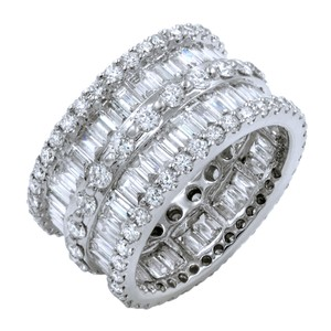 Gavriel's Jewelry Diamond Right Hand Ring Cocktail Baguette Round Cuts 6.06cts
