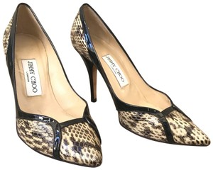 28fbdd6490d Jimmy Choo Snakeskin Patent Leather Pointy Black