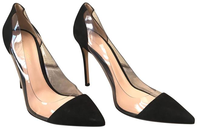 Item - Black and Clear Suede Pumps Size EU 40 (Approx. US 10) Regular (M, B)