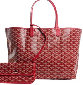 Goyard Neverfull St Louis Monogram Tote in Red