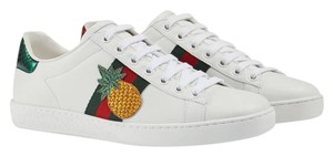 Gucci Ace Sneaker Pineapple Leather White Athletic