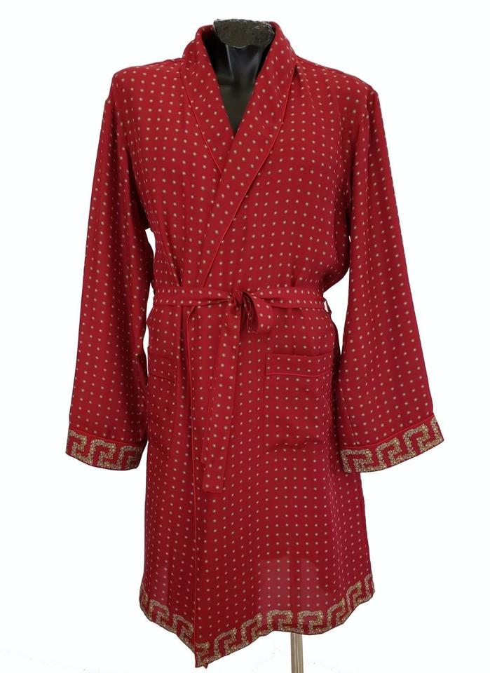 9f6f599014b072 Versace Red New Belted Silk Robe For Men Size L Other Image 0 ...
