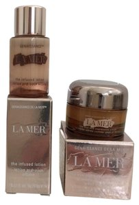 La Mer La Mer Genaissance 2pcs Eye Expression Cream + Infused Lotion TravelSz