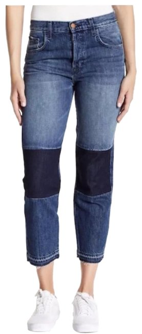 Item - Blue Rise Cuffed Straight Leg Jeans Size 8 (M, 29, 30)
