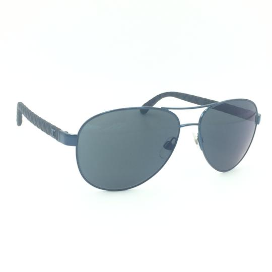 af58abbc538 chanel black leather blue quilted aviator reflective 4204 c.469 z6  sunglasses 74% of.
