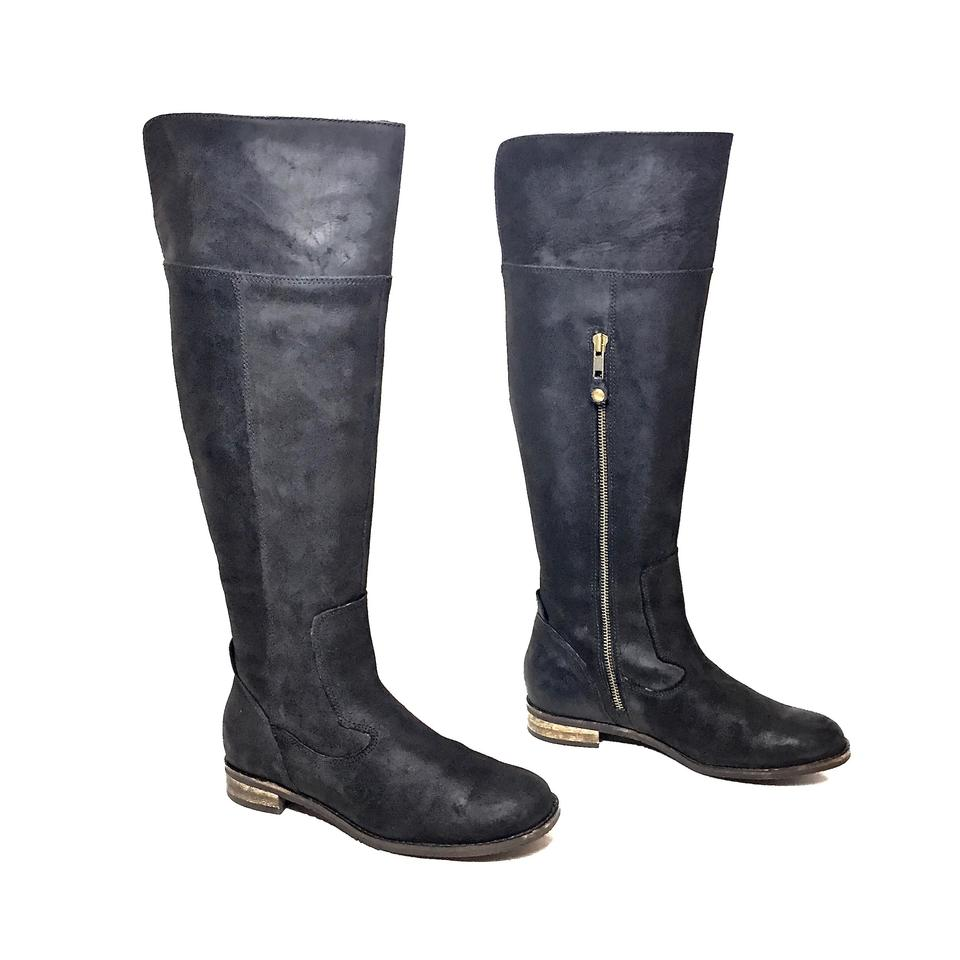 a2f4ca7ffd9 Clarks Black Matte Leather Indigo Knee High Riding Boots/Booties Size US 6  Regular (M, B) 66% off retail