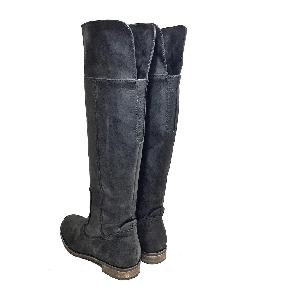 9d366e42330ca9 Clarks Leather Matte Knee High Riding Black Boots Image 10. 1234567891011