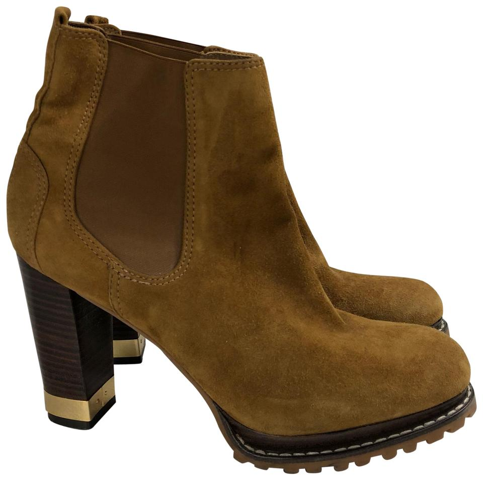 e60ee77601e8 Tory Burch Gold Suede Heels Boots Booties. Size  US 9.5 Regular (M ...