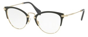 Miu Miu New Eye Glasses VMU 50Q 1AB-101 Free 3 Day Shipping