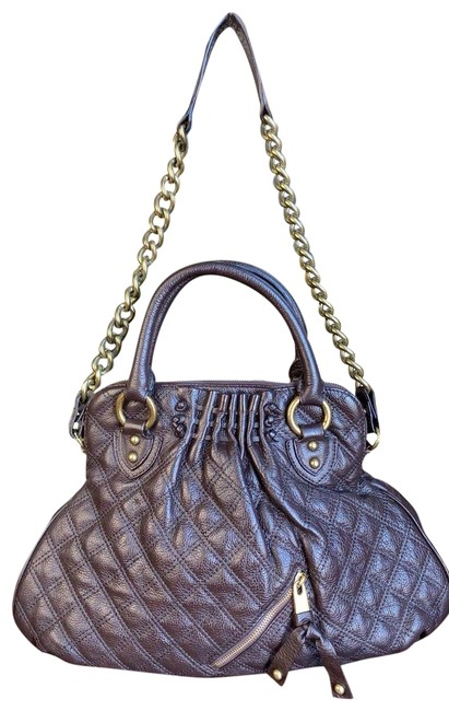 Item - The Show Off Clear Quilting Little Cecilia Medium Way Brown Lambskin Leather Shoulder Bag
