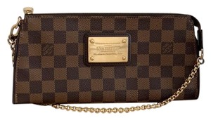 Louis Vuitton Sophie Damier Ebene Coated Brown Clutch
