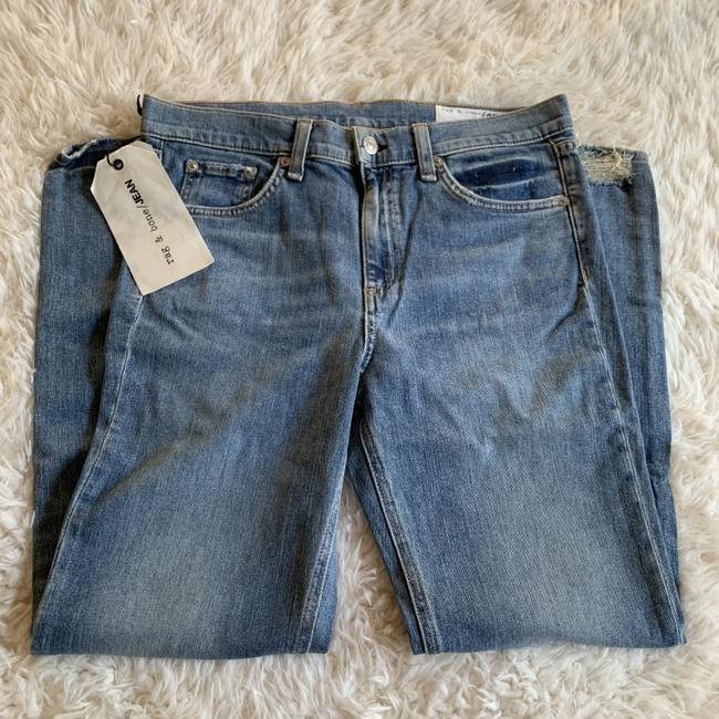 Rag & Bone Distressed Cropped Stove Pipe Straight Leg Jeans Image 6
