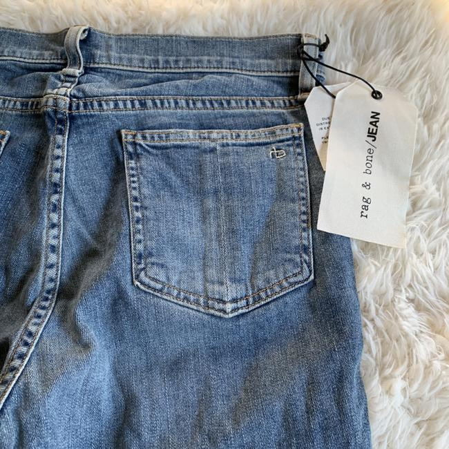 Rag & Bone Distressed Cropped Stove Pipe Straight Leg Jeans Image 8