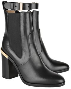 Reed Krakoff Gold Hardware Leather Soft Leather Detachable Straps Black Boots