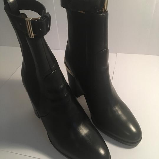 Reed Krakoff Gold Hardware Leather Soft Leather Detachable Straps Black Boots Image 1