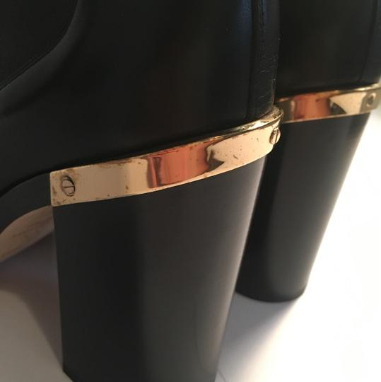 Reed Krakoff Gold Hardware Leather Soft Leather Detachable Straps Black Boots Image 4