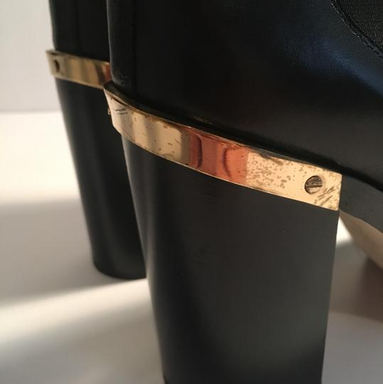 Reed Krakoff Gold Hardware Leather Soft Leather Detachable Straps Black Boots Image 5