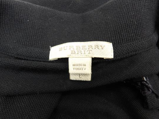Burberry Brit Black L Check Nova Buttons Polo Cotton Long Sleeves Shirt Image 7