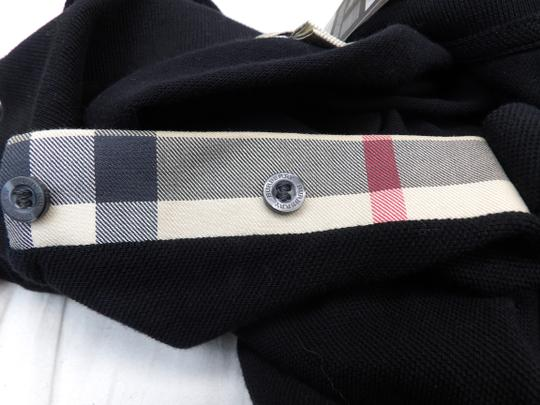 Burberry Brit Black L Check Nova Buttons Polo Cotton Long Sleeves Shirt Image 9