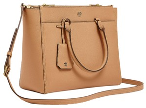 Tory Burch Satchel in Cardamom/Navy