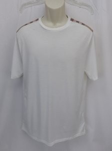 Burberry Brit White Check Nova Optic Pima Cotton Sleeves T-shirt L Shirt