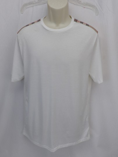Burberry Brit White Check Nova Optic Pima Cotton Sleeves T-shirt L Shirt Image 0