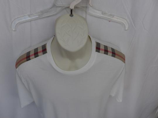 Burberry Brit White Check Nova Optic Pima Cotton Sleeves T-shirt L Shirt Image 2