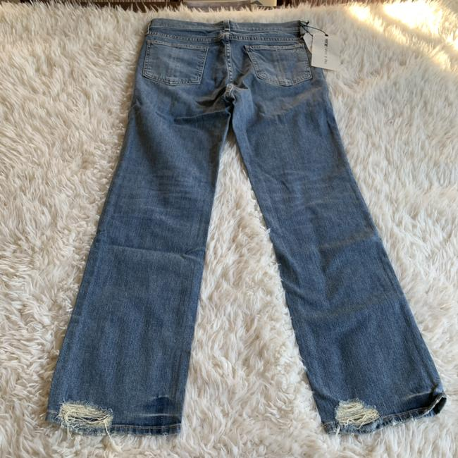 Rag & Bone Distressed Cropped Stove Pipe Straight Leg Jeans Image 2
