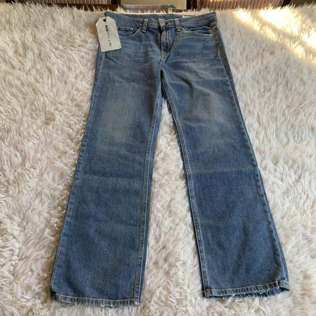 Rag & Bone Distressed Cropped Stove Pipe Straight Leg Jeans Image 4