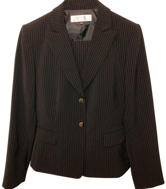 Tahari Pin Striped Skirt Suit Size 4 Image 0