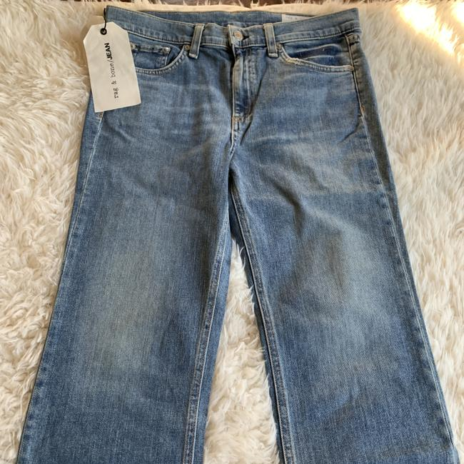 Rag & Bone Distressed Cropped Stove Pipe Straight Leg Jeans Image 7