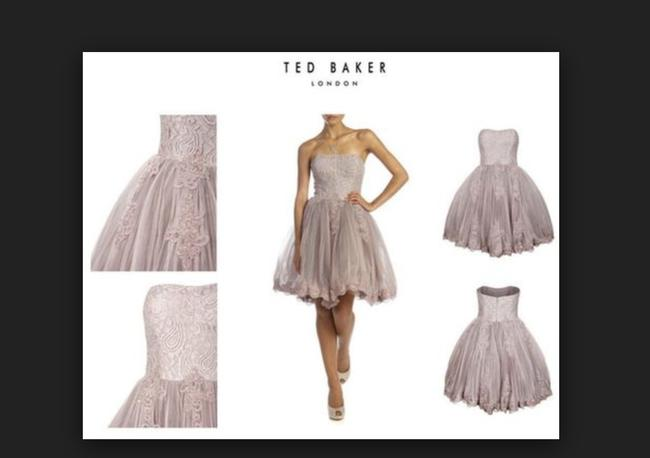 Ted Baker Bridesmaid Bridal Prom Blush Wedding Dress Image 2