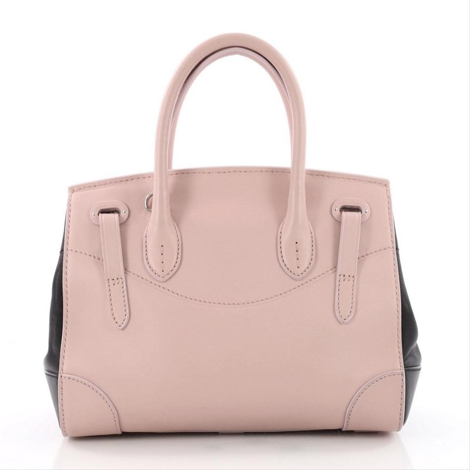6ede5ce4c10d Ralph Lauren Collection Soft Ricky Handbag 27 Pink Leather Satchel ...