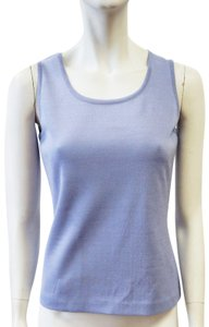 St. John Milano Shell Purple Small Top Periwinkle