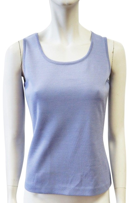 St. John Milano Shell Purple Small Top Periwinkle Image 0