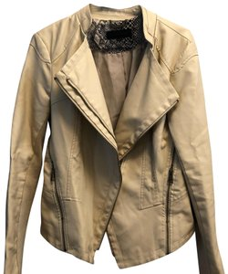 Steve Madden cream Leather Jacket