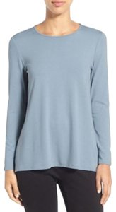 Eileen Fisher Knit Large Jersey Top Water blue