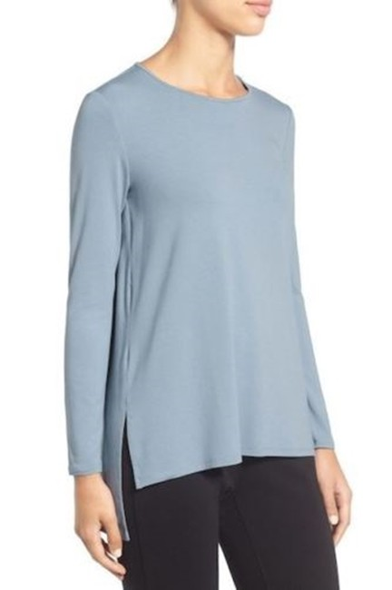 Eileen Fisher Knit Large Jersey Top Water blue Image 1