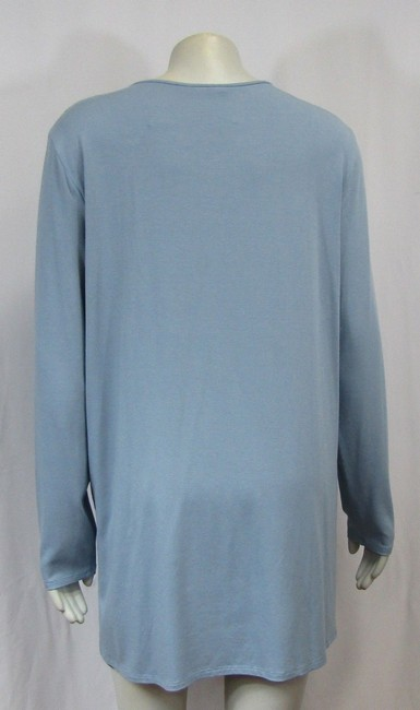 Eileen Fisher Knit Large Jersey Top Water blue Image 2