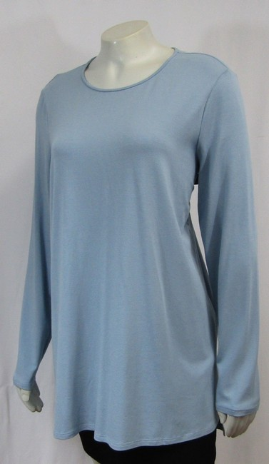 Eileen Fisher Knit Large Jersey Top Water blue Image 3