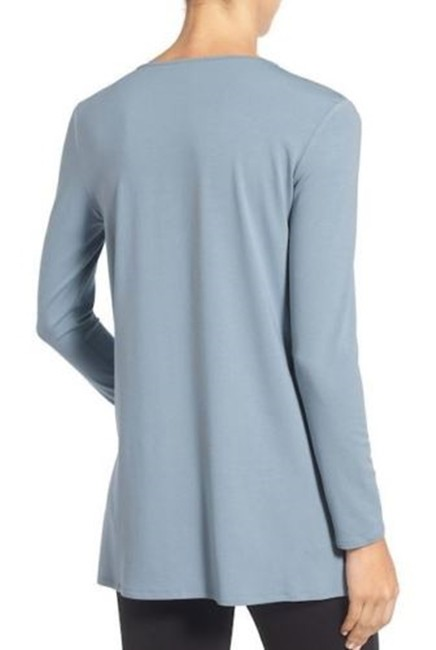 Eileen Fisher Knit Large Jersey Top Water blue Image 4