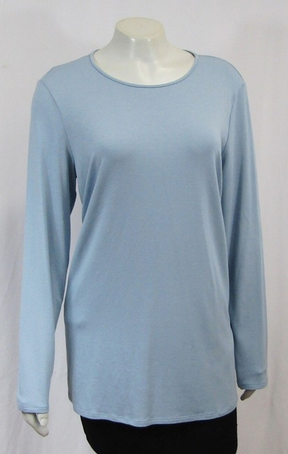 Eileen Fisher Knit Large Jersey Top Water blue Image 5