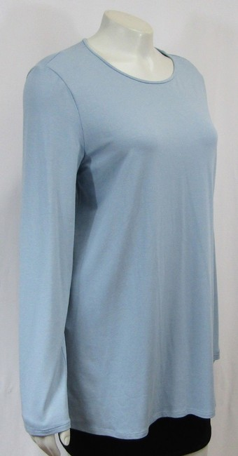 Eileen Fisher Knit Large Jersey Top Water blue Image 6