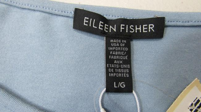Eileen Fisher Knit Large Jersey Top Water blue Image 9