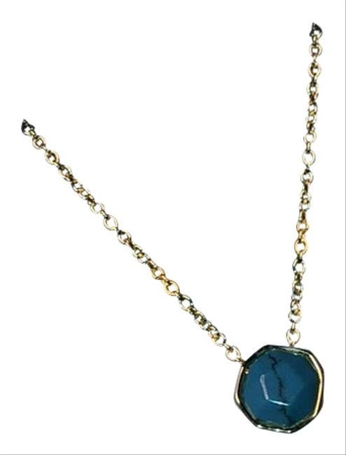Item - Turquoise Gold Power Charm Necklace