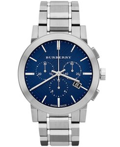 Burberry Burberry Men's The City Blue Dial Swiss Chronograph Watch BU9363